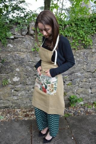 Linen canvas florist apron