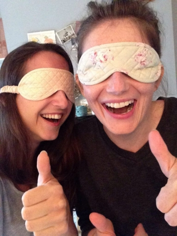 Pretty quilted eye mask