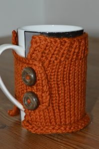 Knitted mug wrap