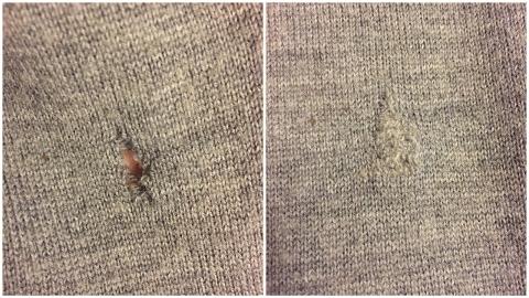 Wool darning mend