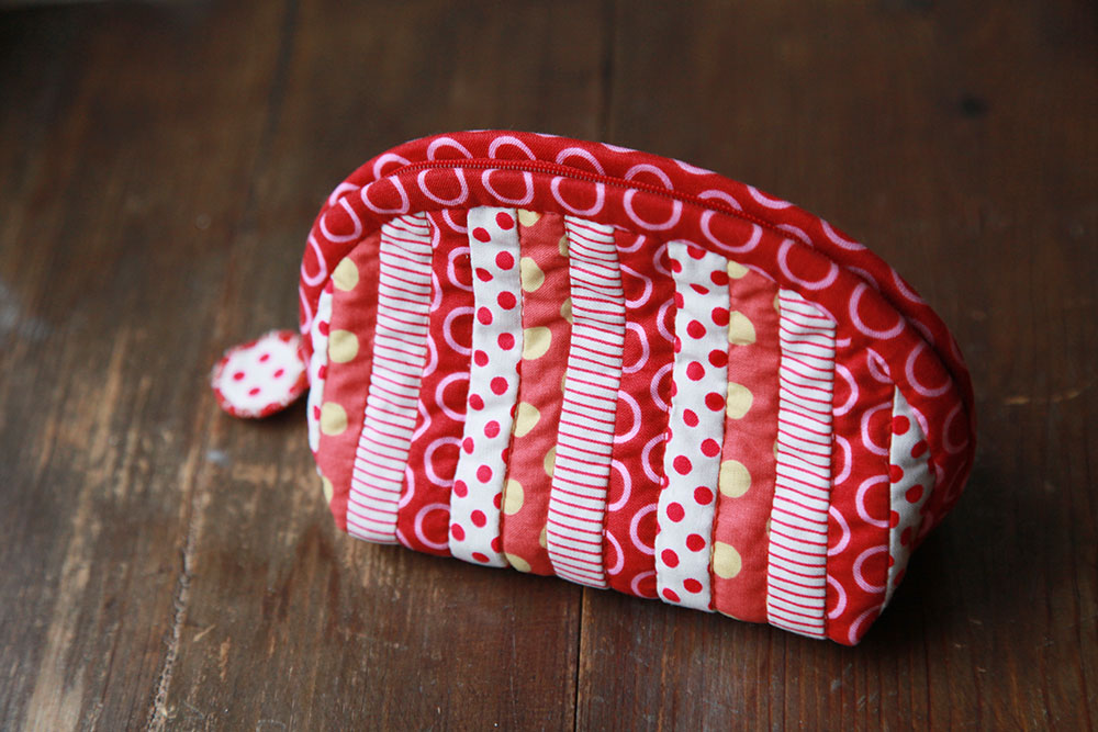 patchwork quilted pouch